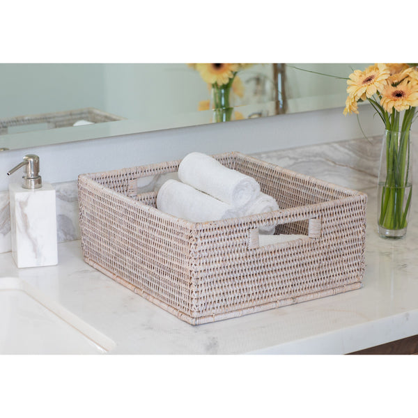 ATC-BS216 Rectangular Basket, Cutout Handles
