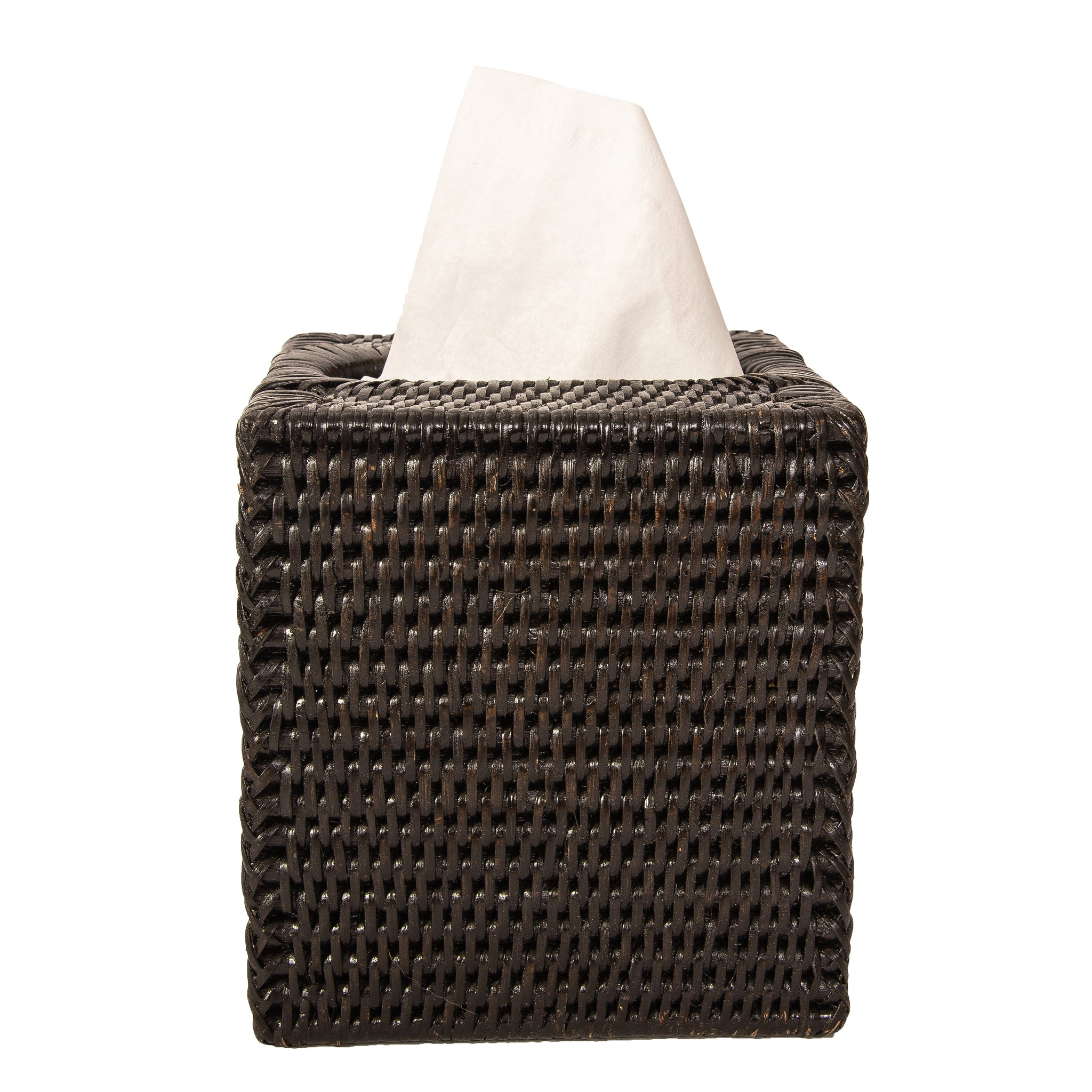 Column Tissue Box Tudor Black
