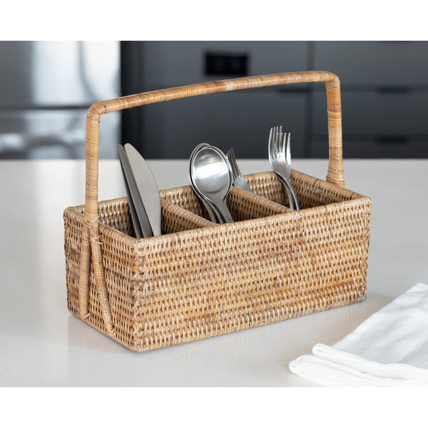 ATC-BS305B 3 Section Caddy/Cutlery Holder with Handle