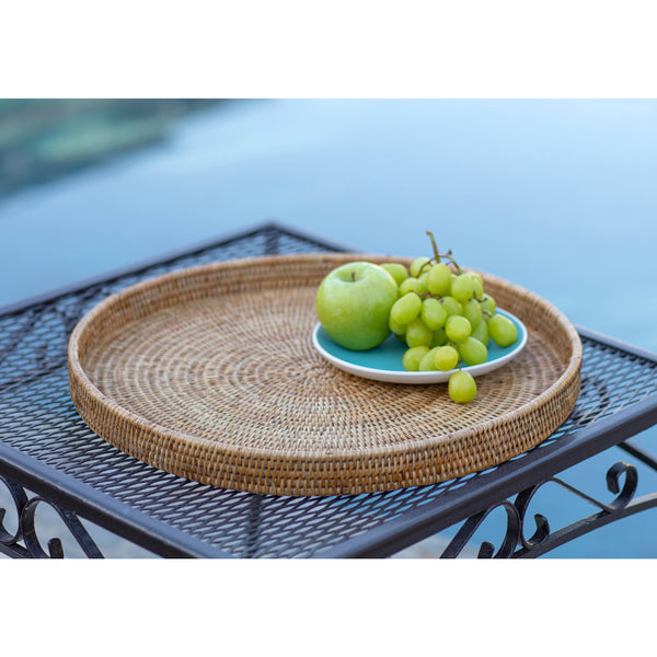 Round Serving / Ottoman Tray