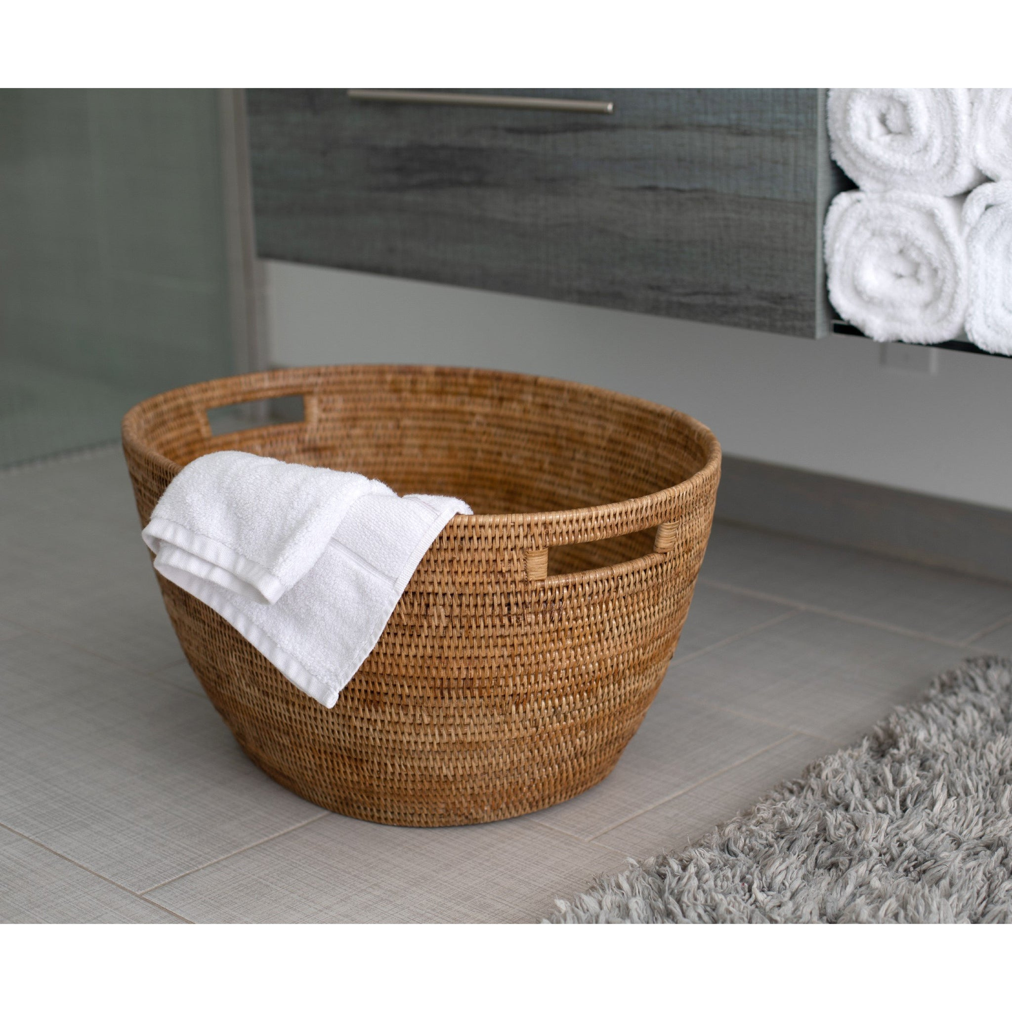 Laundry Basket with Cutout Handles Media 1 of 8
