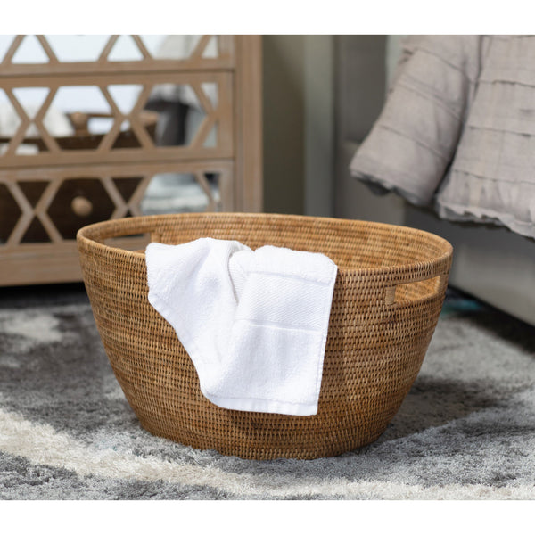 Laundry Basket with Cutout Handles