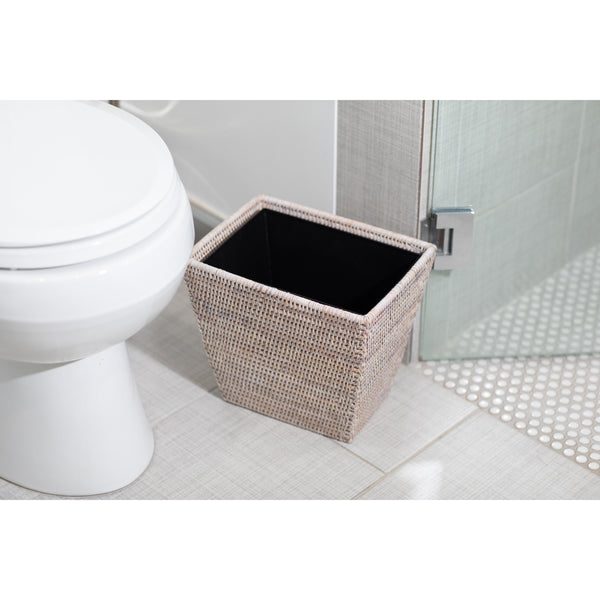 Rectangular Tapered Waste Basket with Metal Liner