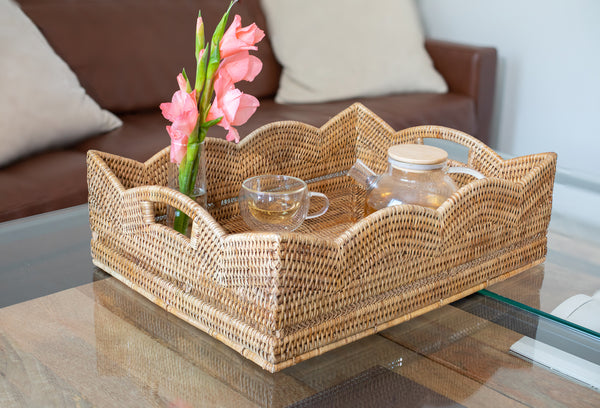 ATC-BS359 Scallop Collection Rectangular Storage Basket