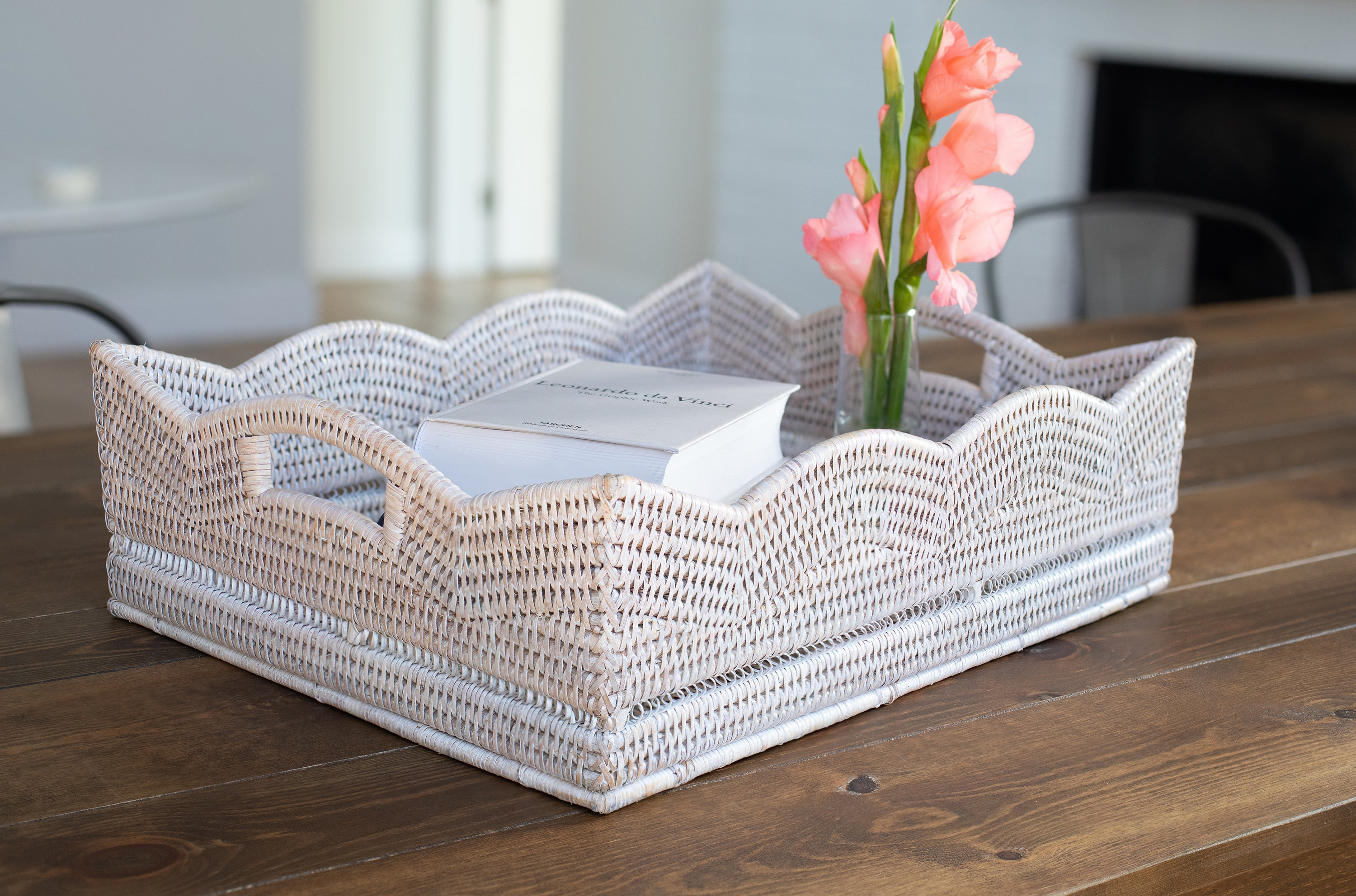 Scallop Collection Rectangular Storage Basket
