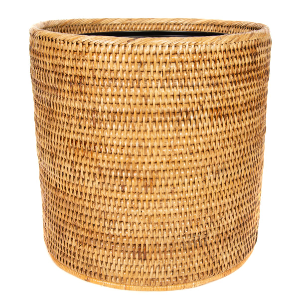 Round Waste Basket with Metal Liner