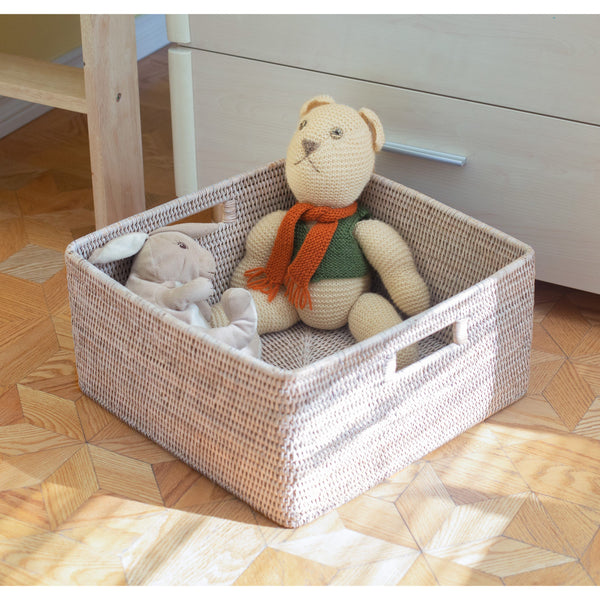 Square Storage Basket with Rounded Corners