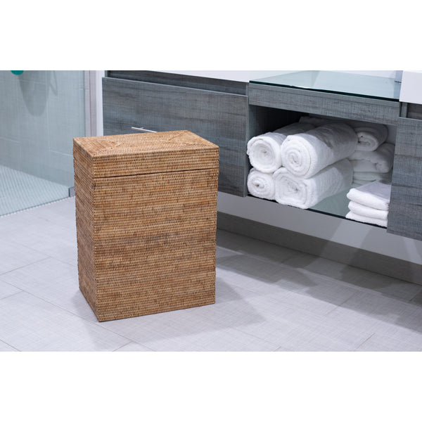 Rectangular Hamper with Hinged Lid