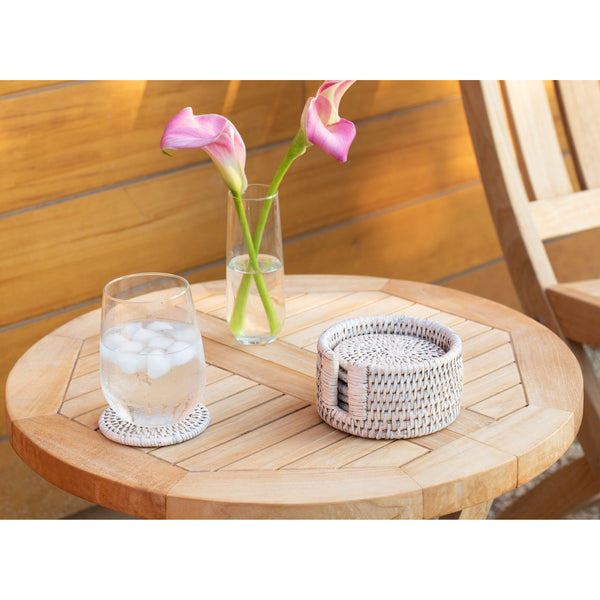 Round Coasters with Box - 7 Piece Set