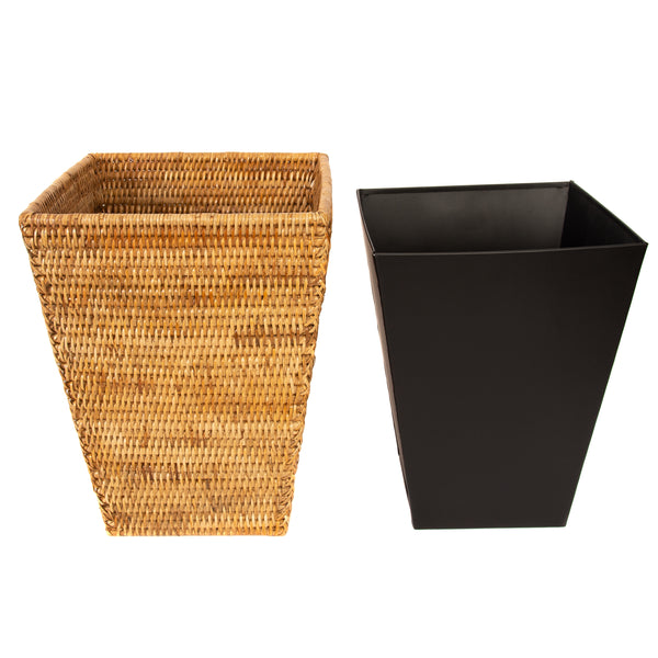 ATC-BS965 Square Tapered Waste Basket with Metal Liner