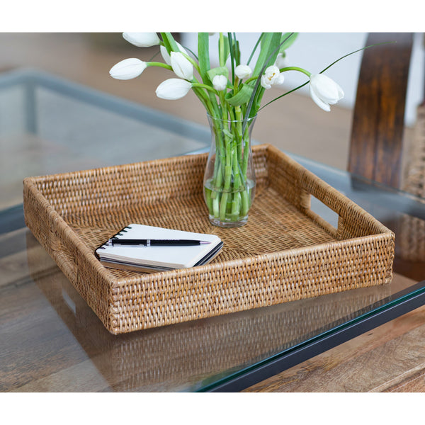 Square Serving Tray with Cutout Handles