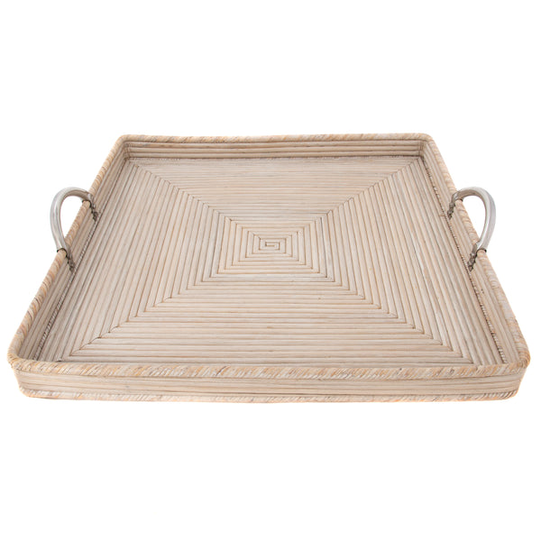 Square Tray with Stainless Steel Handles