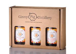 Trio Gin Gift Set, Dry Gin, Spiced Fig Gin, Blueberry & Vanilla Gin