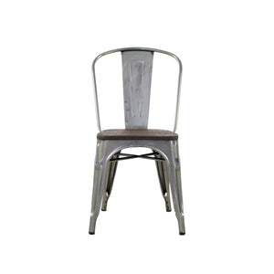 Tolix Chair With Wood Seat