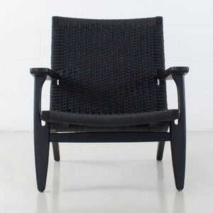 CAVO LOUNGE BLACK FRAME WITH BLACK SEAT