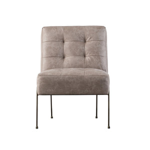Quebec Lounge Distressed Grey Leatherette