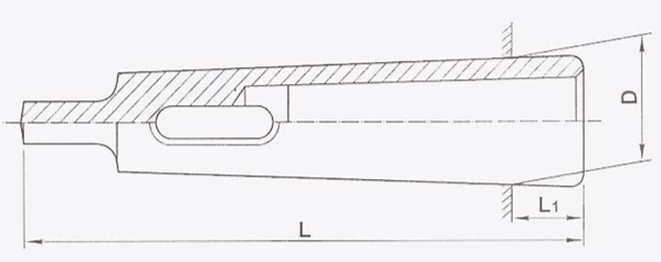 Drill Sleeve (Reduction Sleeve) Diagram Dimension Chart RR Brand