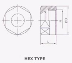 RR Spare Nut for Er collet mini type hex type round type