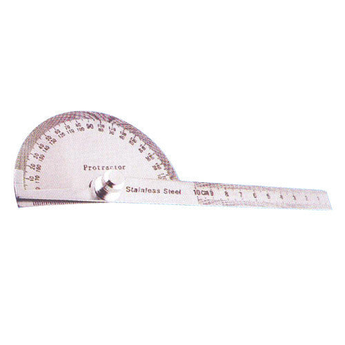 6 Inches Long Protractor With Graduated Steel Rule - RR Brand