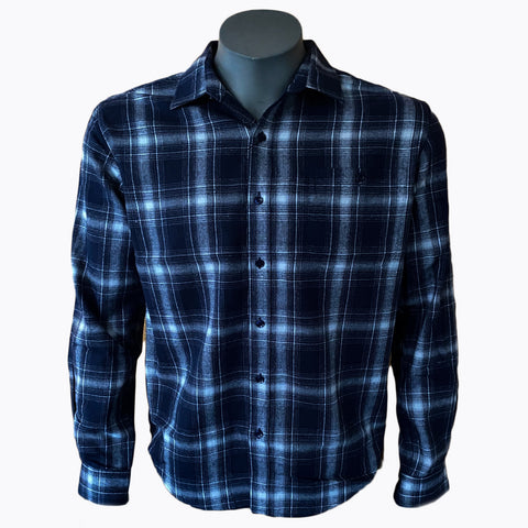 DUTHIE & BULL CHECK SHIRT BLUE