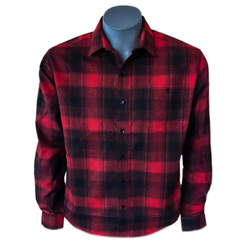 DUTHIE & BULL MENS SHIRT RED CHECK