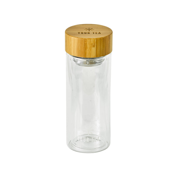 Glass Tumbler w/ Bamboo Lid - Image 2