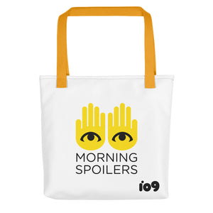 """Morning Spoilers"" Colored Strap Tote Bag"