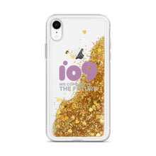 "Load image into Gallery viewer, ""io9 Wlecome From The Future"" Liquid Glitter Phone Case"