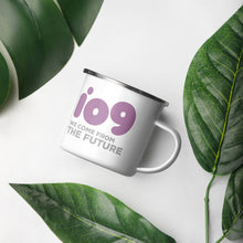 "Load image into Gallery viewer, io9 ""We Come From The Future"" Enamel Mug"