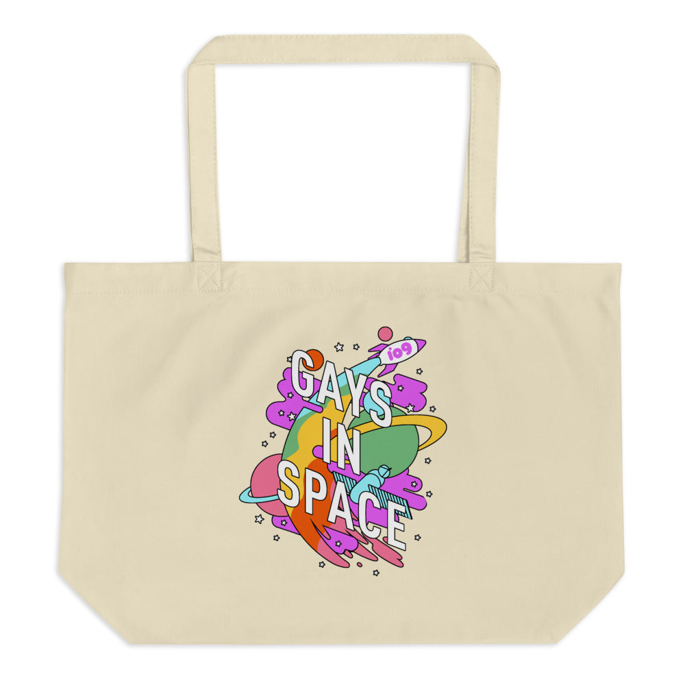 Gays In Space Large Tote Bag
