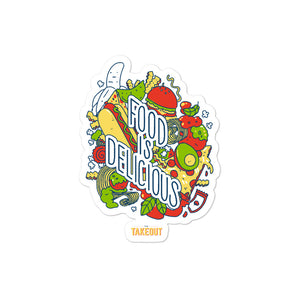 """Food is Delicious"" Stickers"