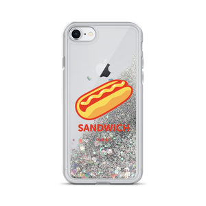 """Sandwich"" Liquid Glitter Phone Case"