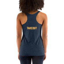 "Load image into Gallery viewer, ""Food is Delicious"" Racerback Tank"