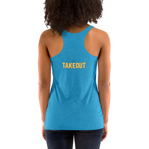 """Food is Delicious"" Racerback Tank"