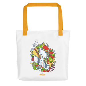 """Food is Delicious"" Picnic Tote"