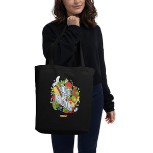 """Food is Delicious"" Tote Bag"