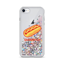 "Load image into Gallery viewer, ""Sandwich"" Liquid Glitter Phone Case"
