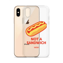 "Load image into Gallery viewer, ""Not a Sandwich"" iPhone Case"