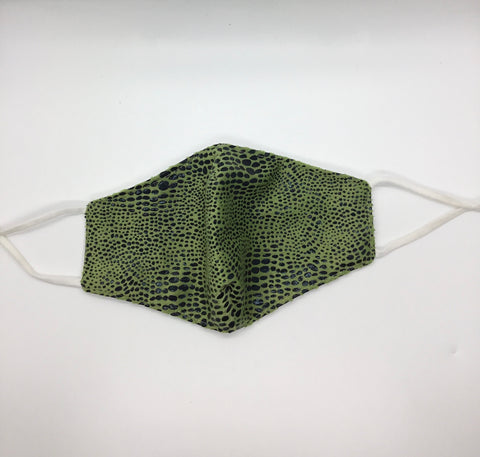 Snake Skin Mask - Green - The Glam Goddess Shop