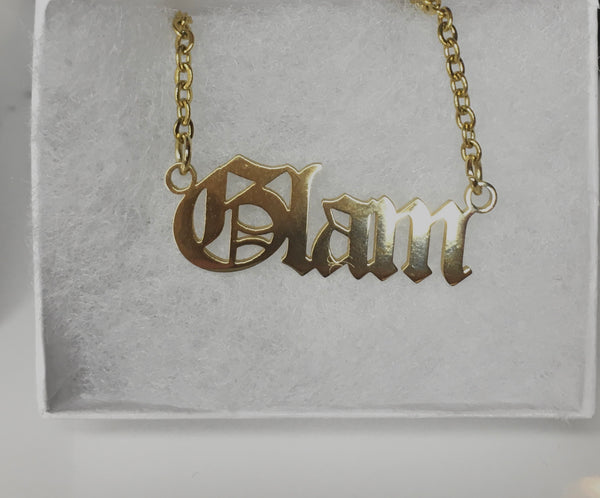 Old English Necklace - The Glam Goddess Shop