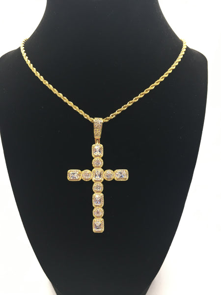 Drippin Cross Necklace - Gold
