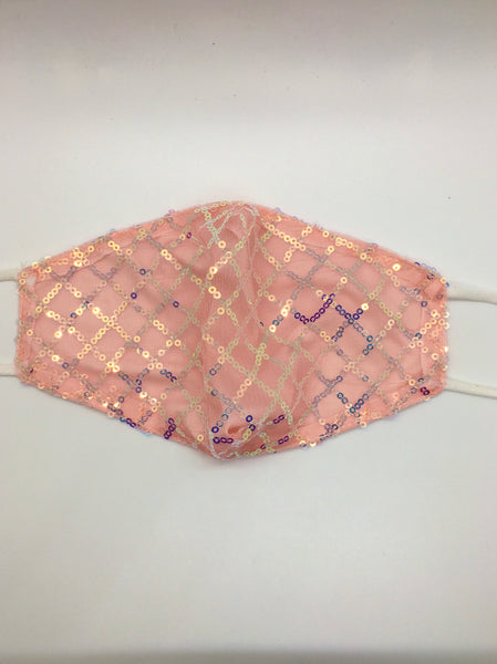 Criss Cross Mask - Pink