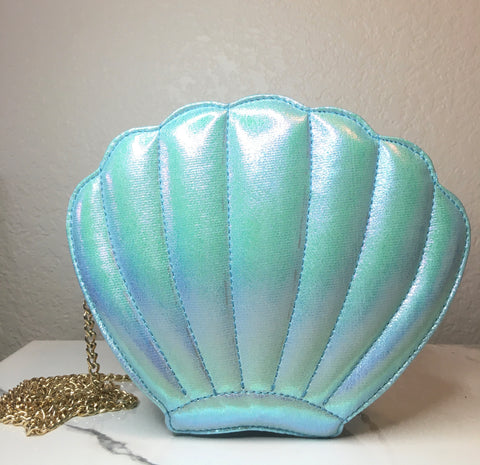 Seashell Crossbody Bag - Sky Blue - The Glam Goddess Shop