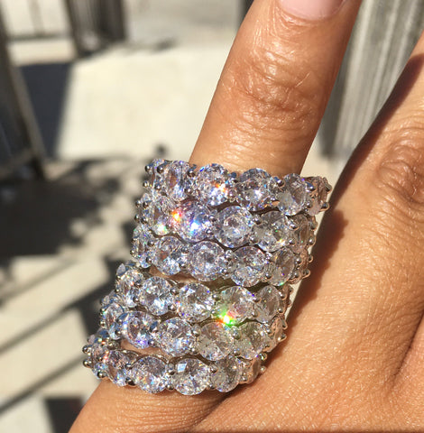 Royalty Ring - White Diamond - The Glam Goddess Shop