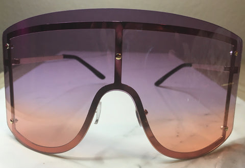 FIYAH Shades- Purple/Orange - The Glam Goddess Shop