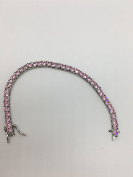Tennis Bracelet - Baby Pink Diamond