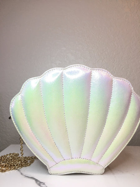 Seashell Crossbody Bag - Pearl White