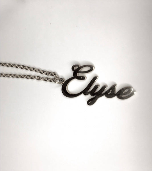 The Vertical Name Necklace