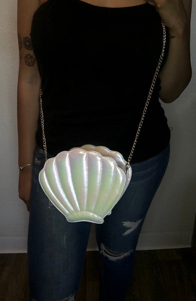 Seashell Crossbody Bag - Pearl White - The Glam Goddess Shop