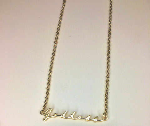 The Glam Script Necklace